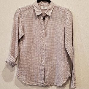 UNIQLO Checked Linen Shirt